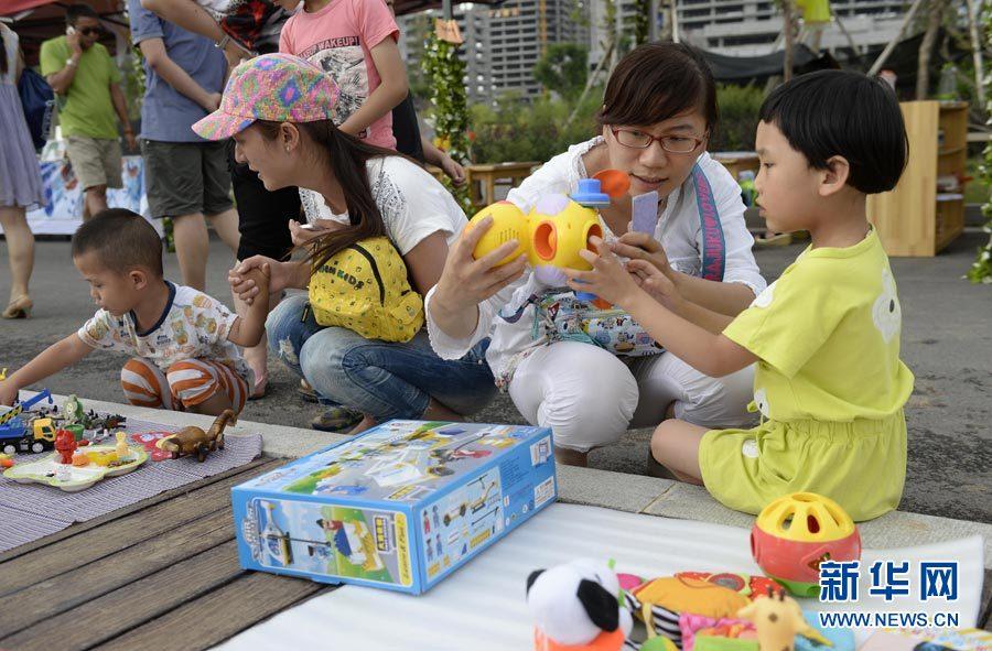 暑期儿童跳蚤市场_图片频道