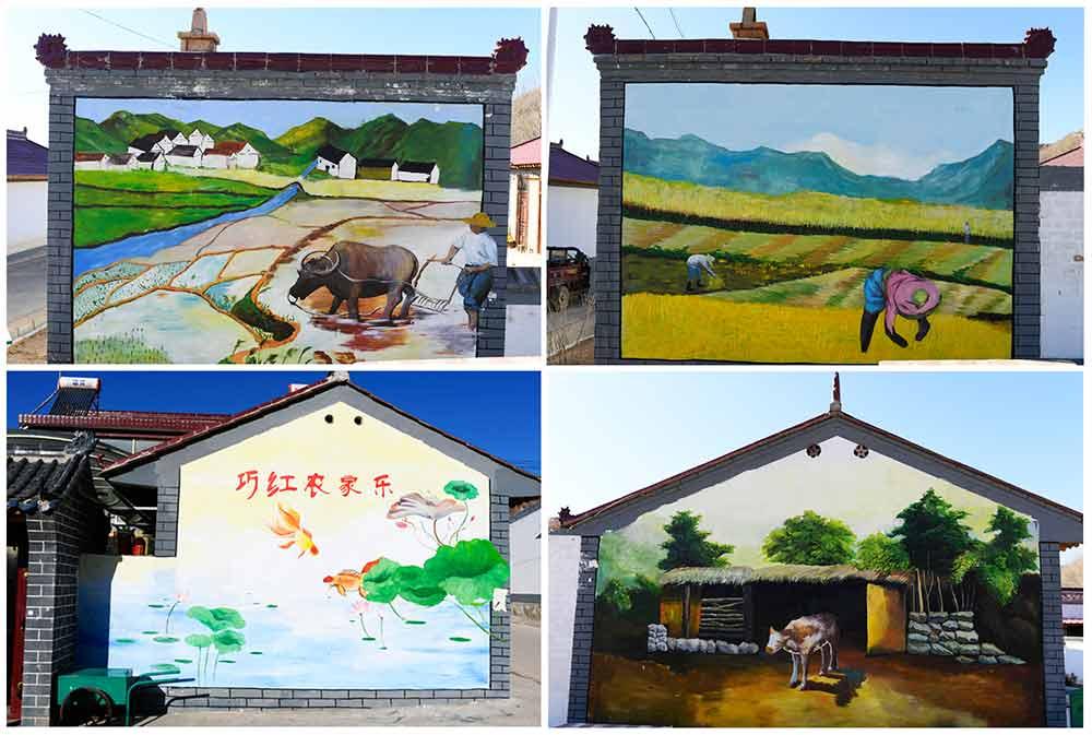 3d墙画扮靓美丽乡村