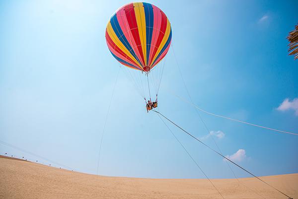 沙上熱氣球