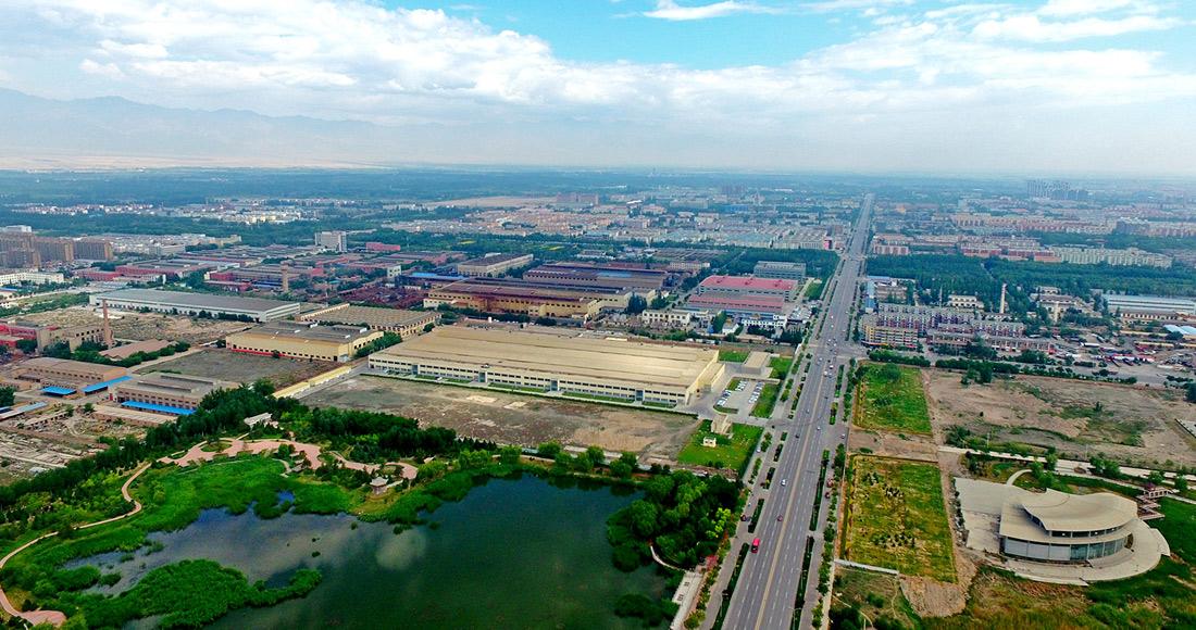 俯瞰銀川經濟技術開發區