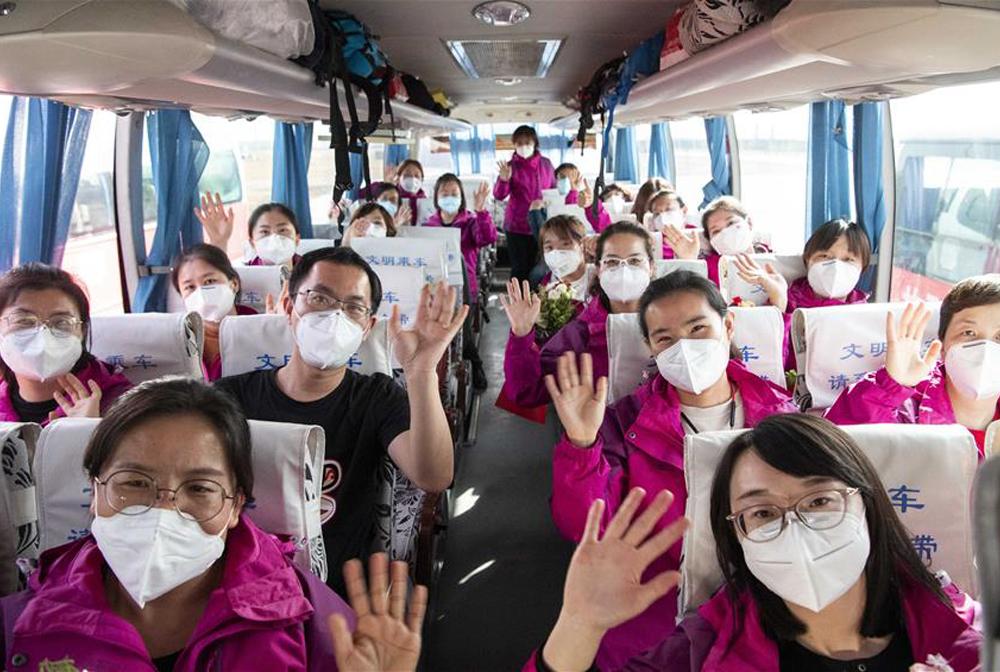 寧夏支援湖北襄陽醫療隊抵達銀川