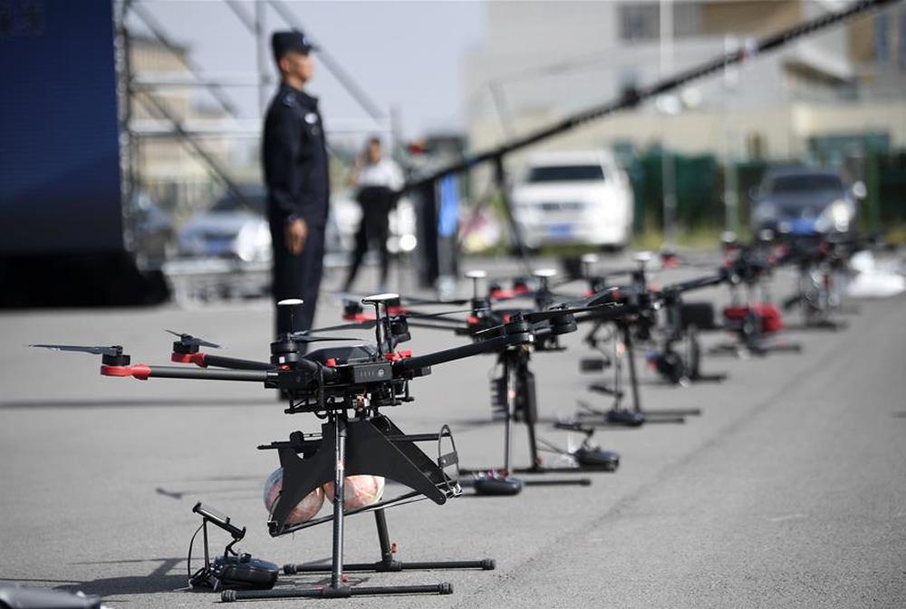 寧夏:警用無人機大練兵