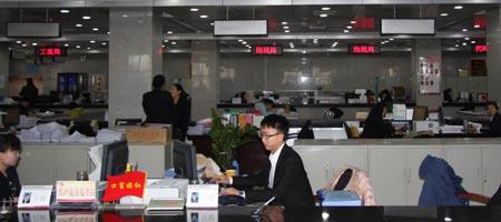 市政务服务中心设置滨河新区办事窗口